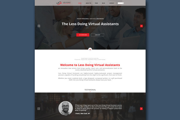 Website design (3 pages) example less doing